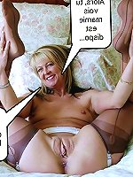 Gallant old lasses posing fully nude on picture
