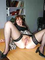 Sensual older dame get undressed for you