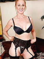 Erotic older businesswomen seducing like a pro